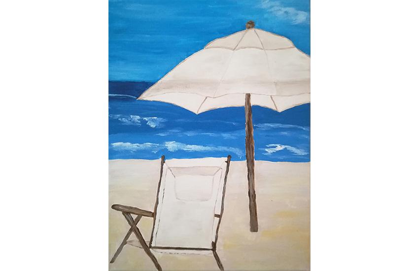 Ein freier Platz am Strand 40×30 cm