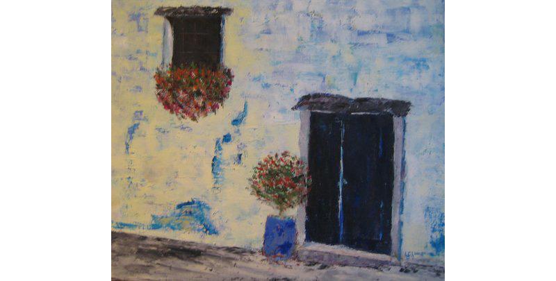 Tür, Öl auf Leinen, 80×60 cm