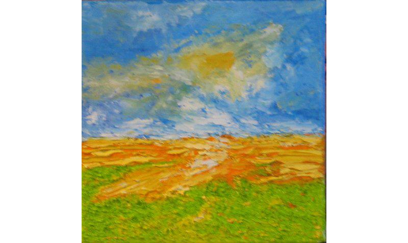 Vier Jahreszeiten – Frühling, Acryl auf Leinen, 20×20 cm