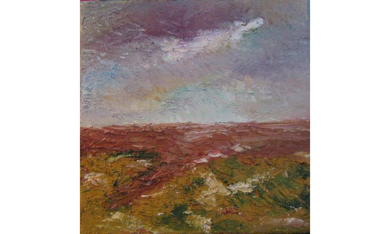 Vier Jahreszeiten – Herbst, Acryl auf Leinen, 20×20 cm