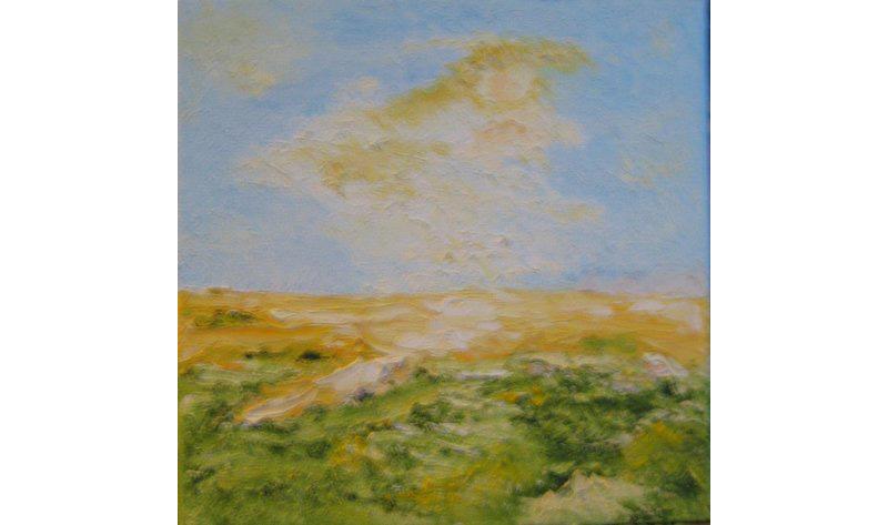 Vier Jahreszeiten – Sommer, Acryl auf Leinen, 20×20 cm