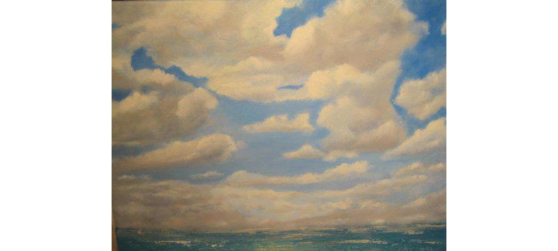 Wolken, Öl auf Leinen, 50×40 cm